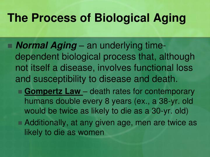 The process of biological aging