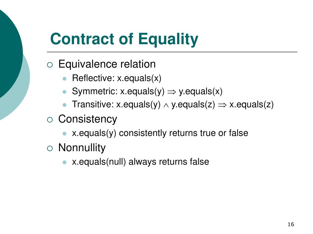 Contract of Equality