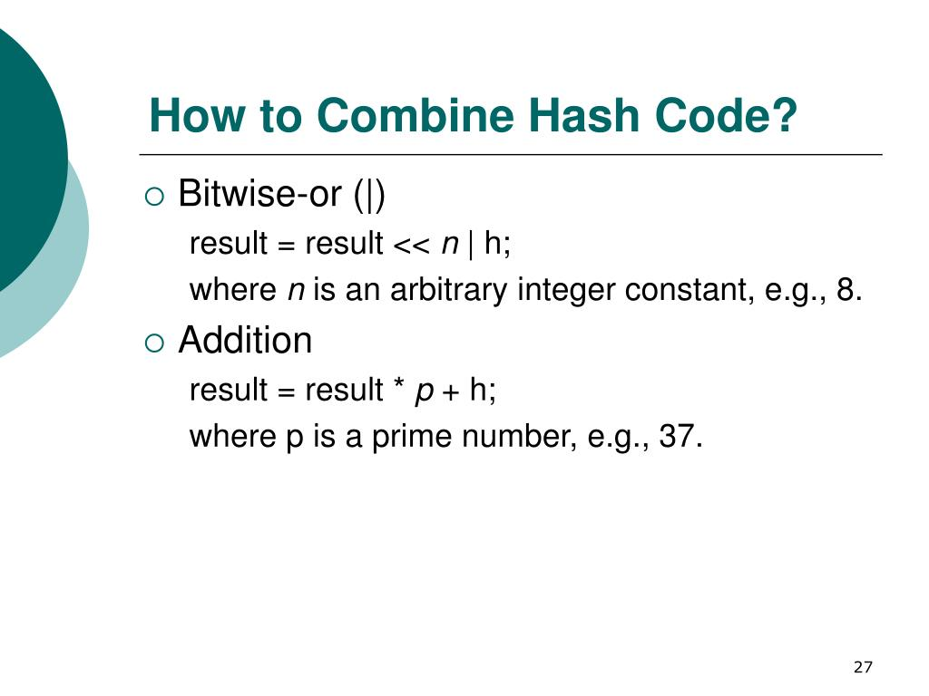 How to Combine Hash Code?