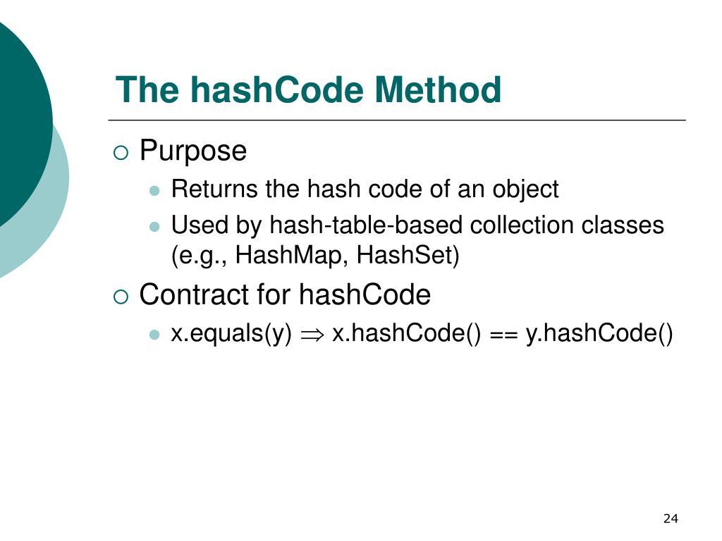 The hashCode Method