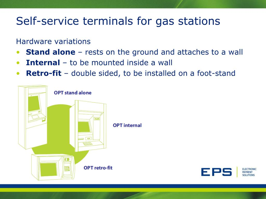 Self-service terminals for gas stations