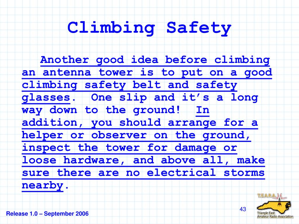 Climbing Safety