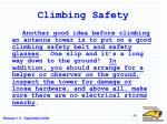 climbing safety