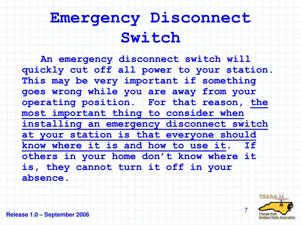 Emergency Disconnect Switch