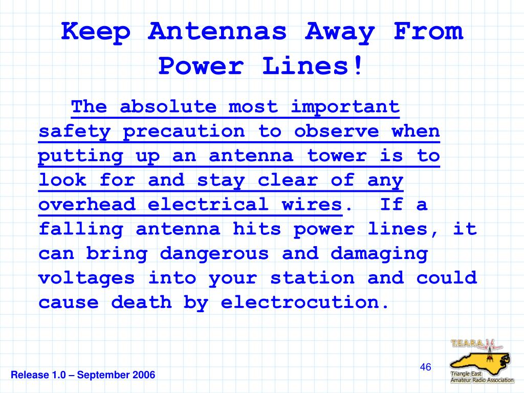 Keep Antennas Away From Power Lines!