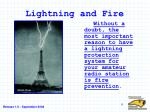 lightning and fire