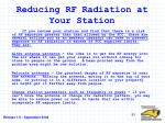 reducing rf radiation at your station