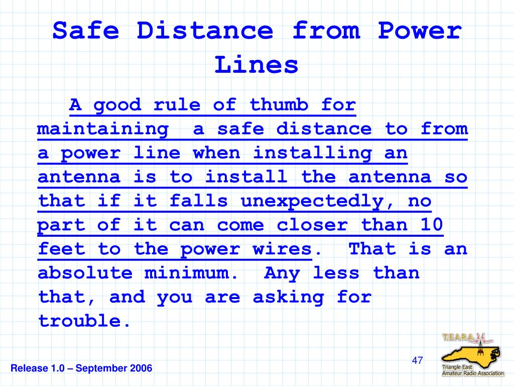 Safe Distance from Power Lines