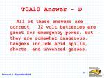 t0a10 answer d