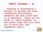 t0a11 answer a