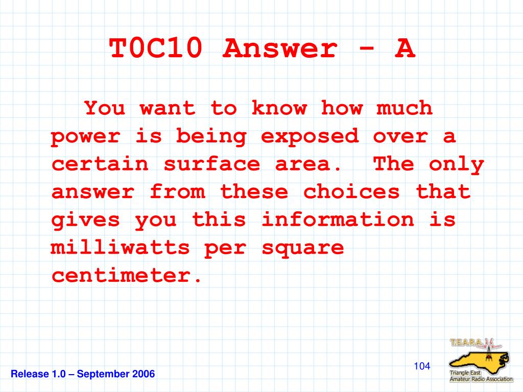T0C10 Answer - A