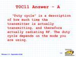 t0c11 answer a