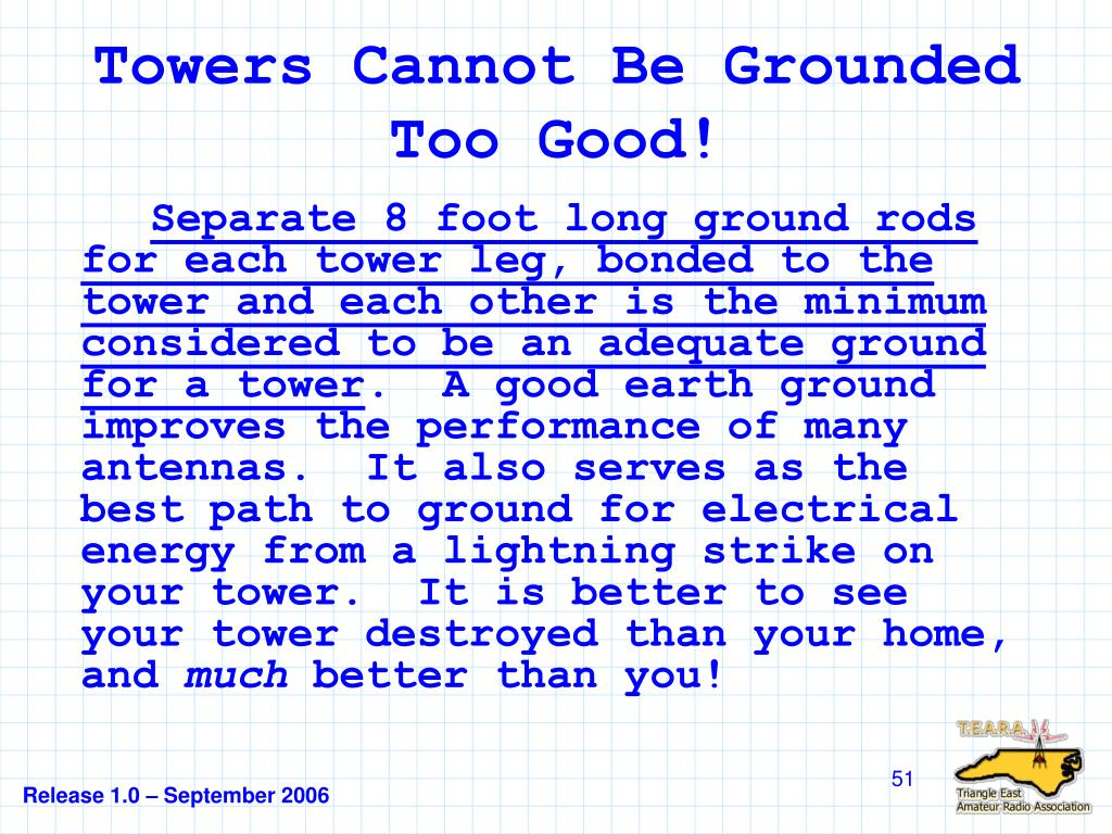 Towers Cannot Be Grounded Too Good!