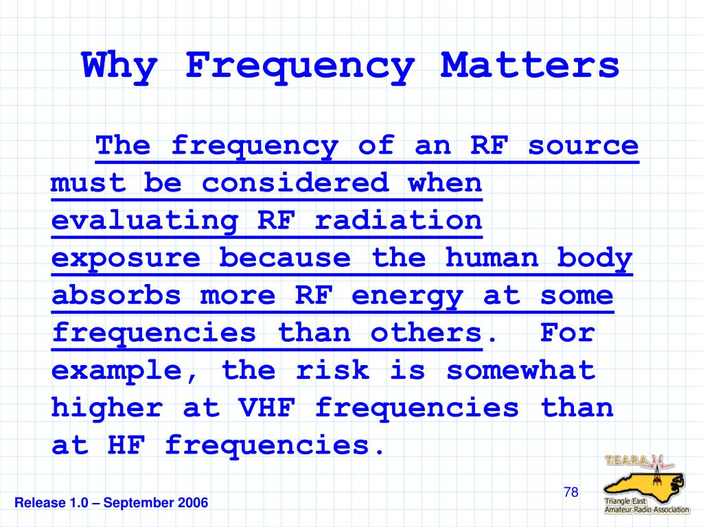 Why Frequency Matters