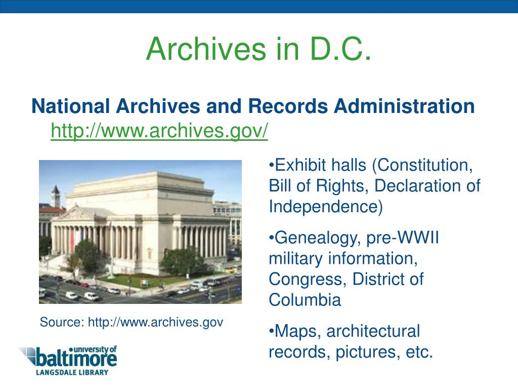 Archives in D.C.