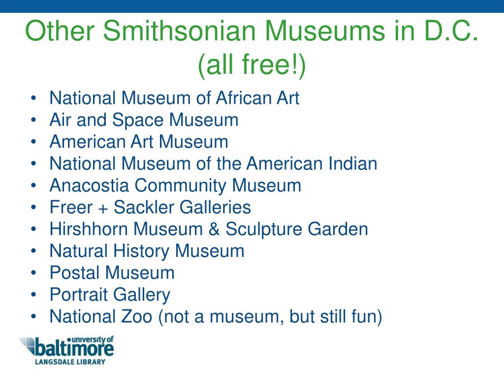 Other Smithsonian Museums in D.C.