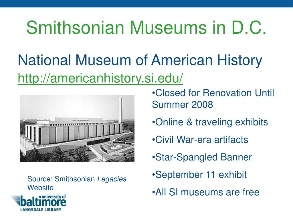 Smithsonian Museums in D.C.