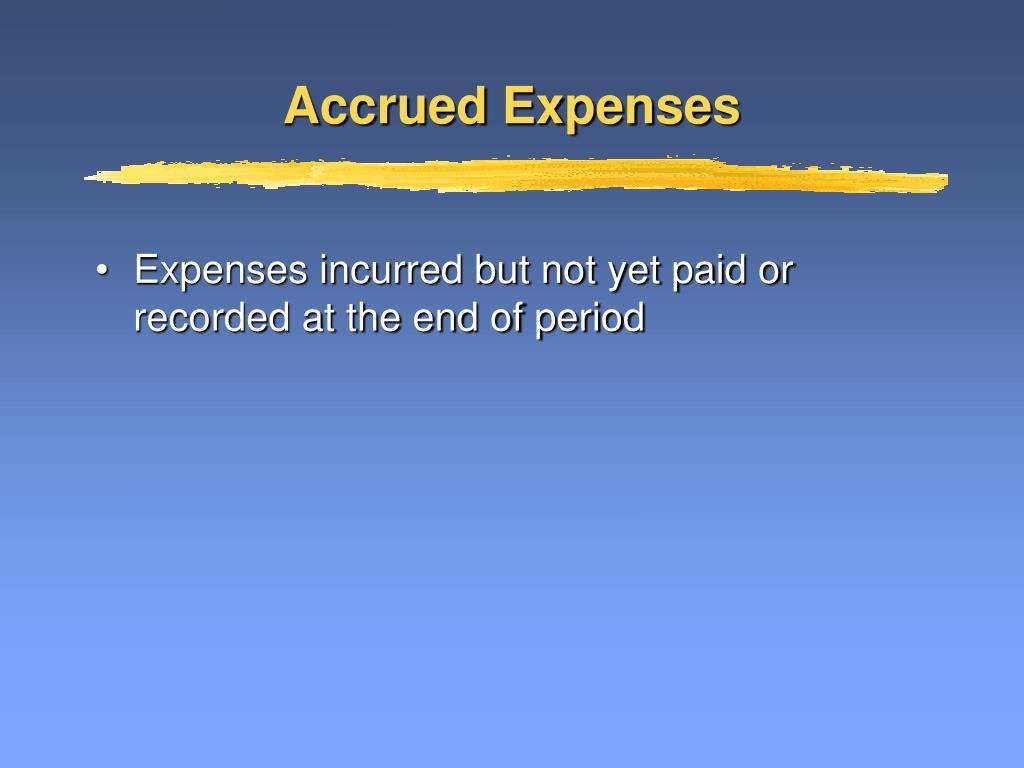 Accrued Expenses