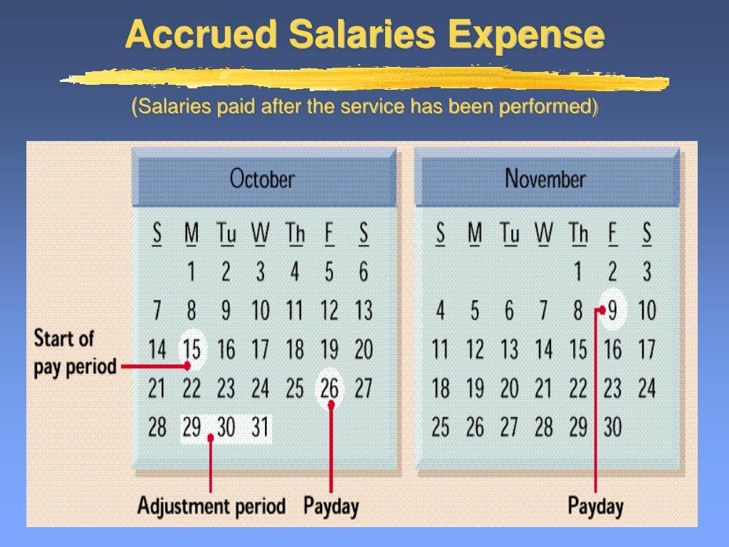 Accrued Salaries Expense