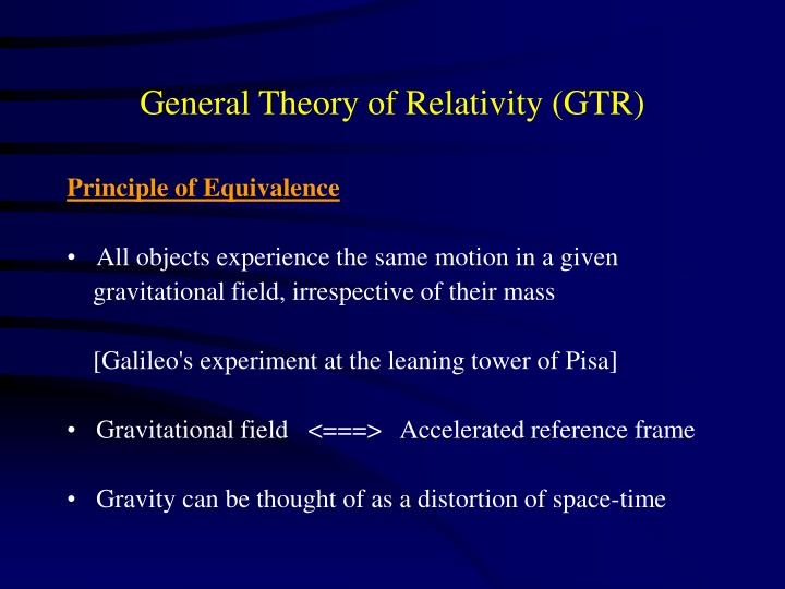General Theory of Relativity (GTR)