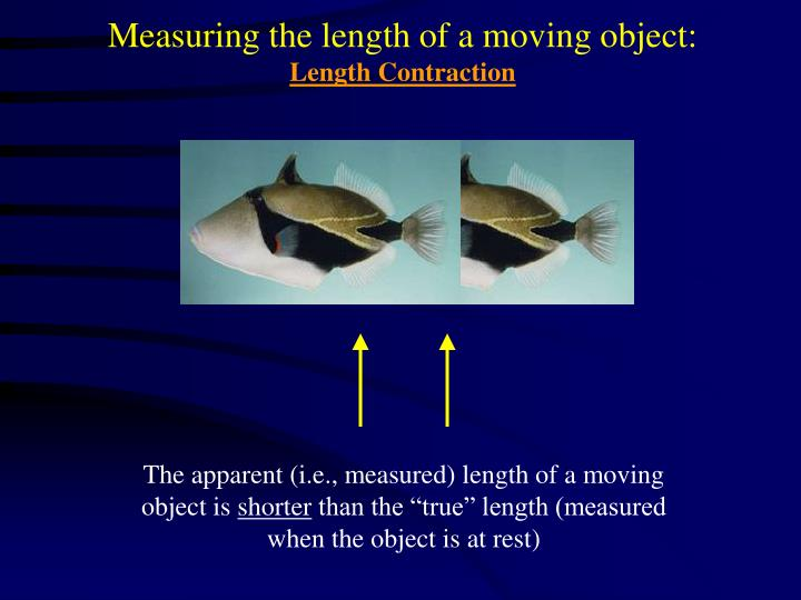 Measuring the length of a moving object: