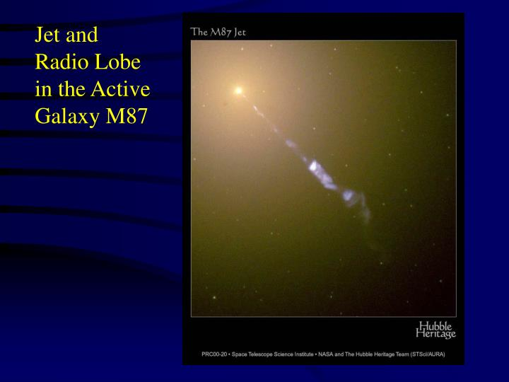 Jet and Radio Lobe in the Active Galaxy M87