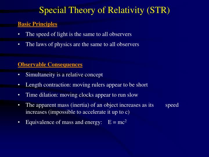 Special theory of relativity str1