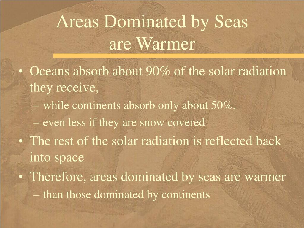 Areas Dominated by Seas