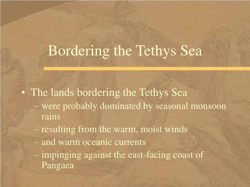 Bordering the Tethys Sea