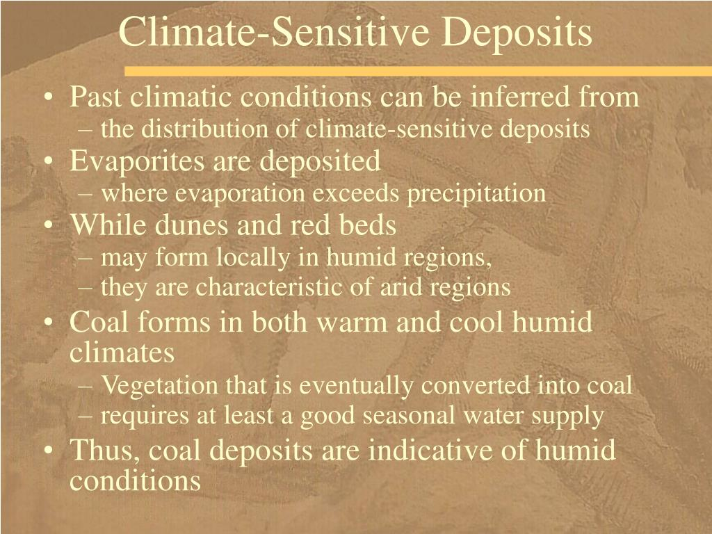 Climate-Sensitive Deposits