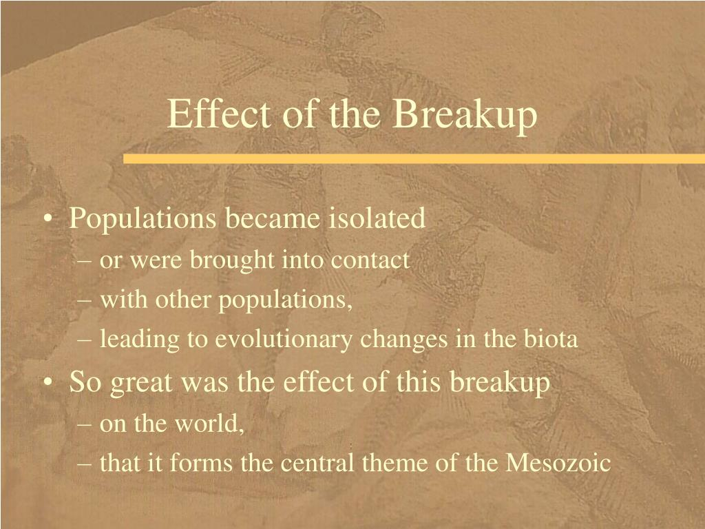 Effect of the Breakup