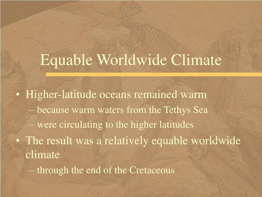Equable Worldwide Climate