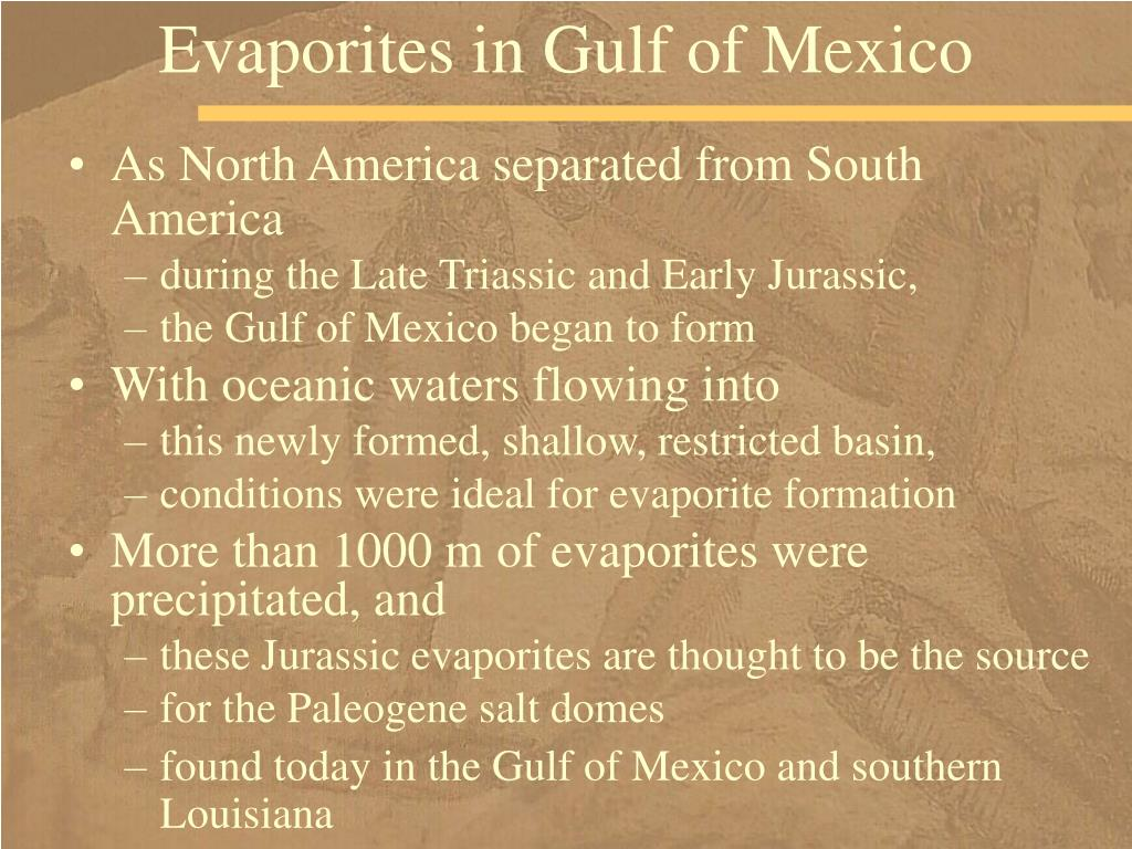 Evaporites in Gulf of Mexico