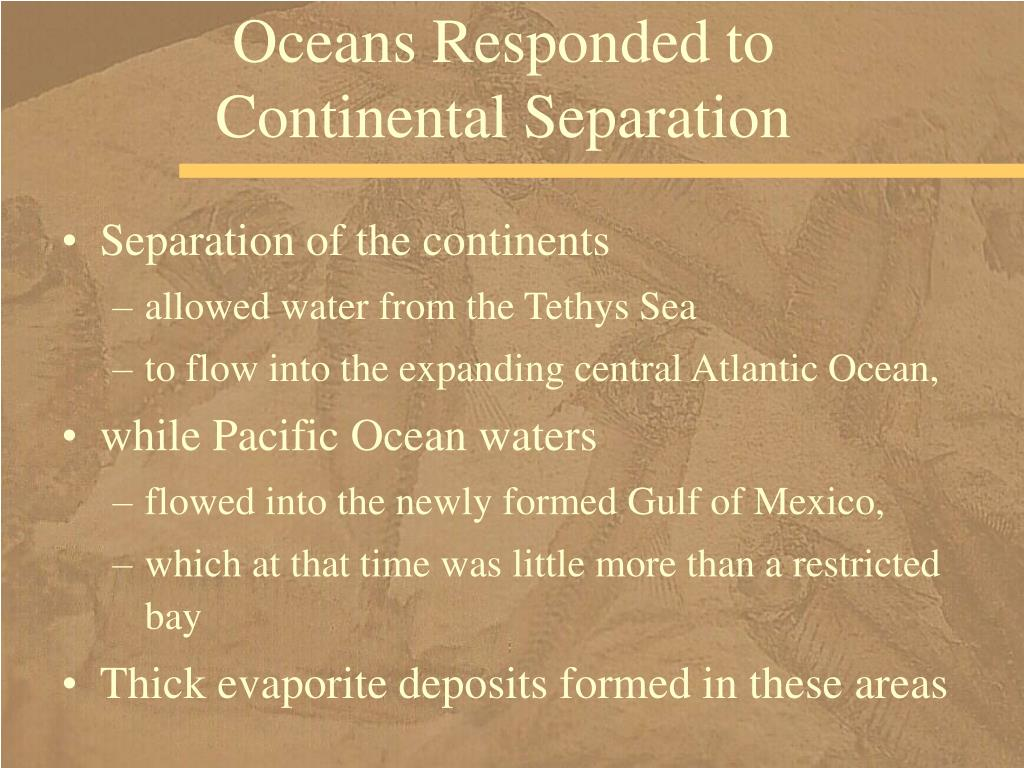 Oceans Responded to Continental Separation