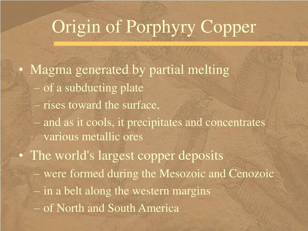 Origin of Porphyry Copper