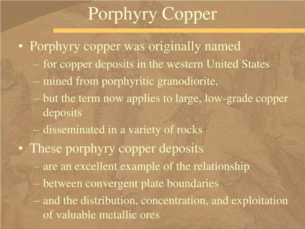 Porphyry Copper