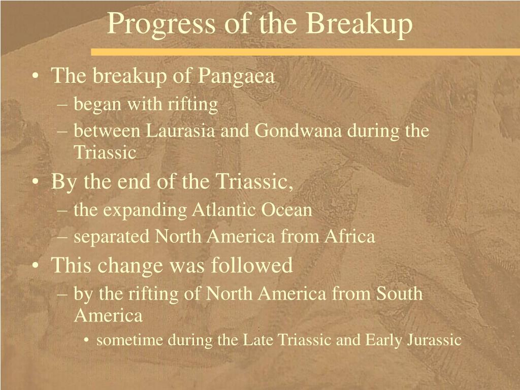 Progress of the Breakup