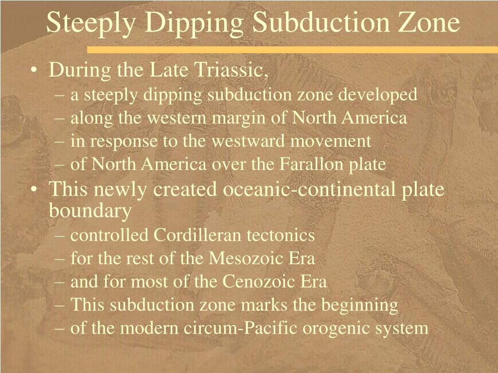 Steeply Dipping Subduction Zone