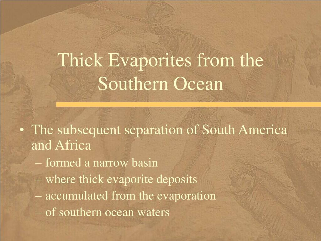 Thick Evaporites from the Southern Ocean