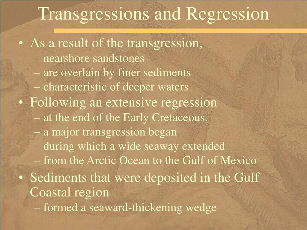 Transgressions and Regression