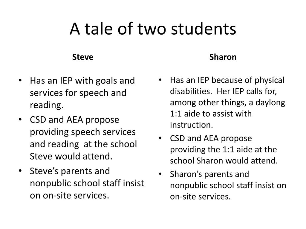 A tale of two students