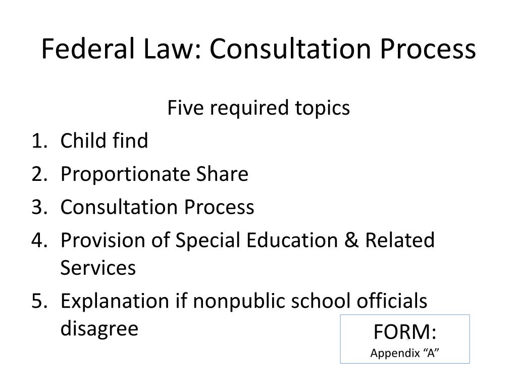 Federal Law: Consultation Process