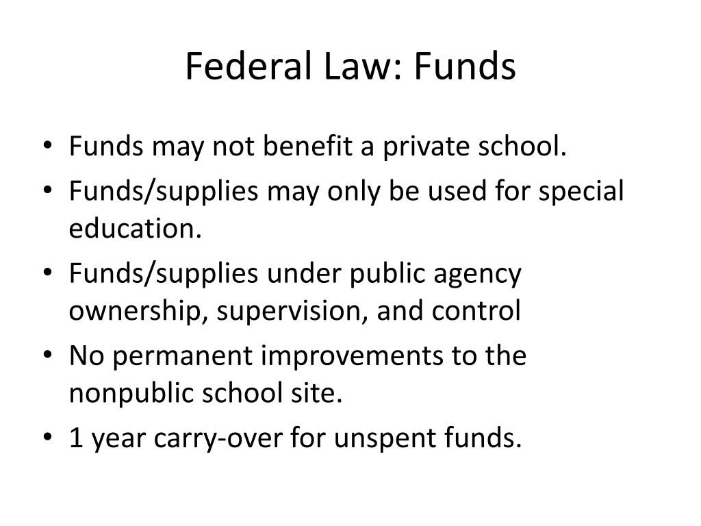 Federal Law: Funds