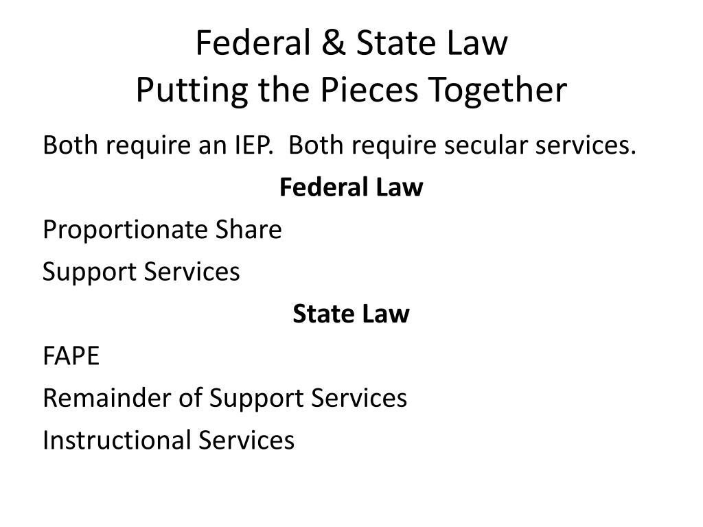 Federal & State Law