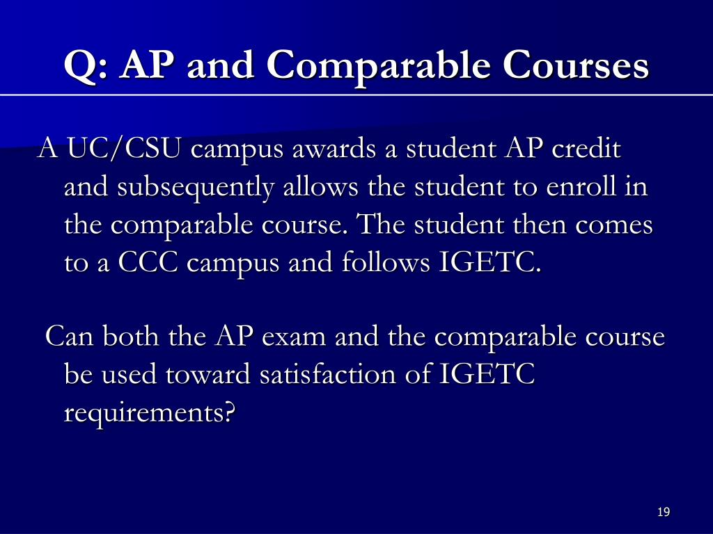 Q: AP and Comparable Courses