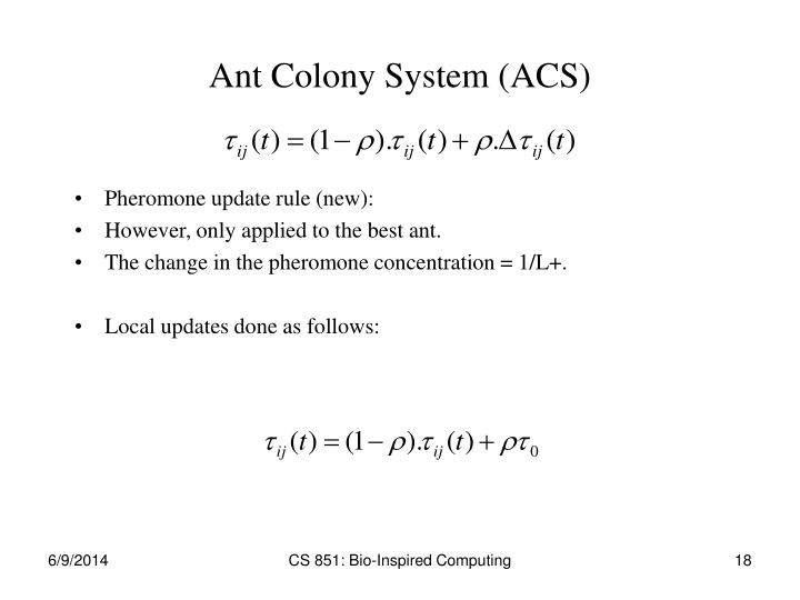Ant Colony System (ACS)