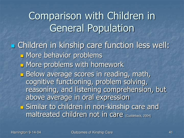 Comparison with Children in General Population