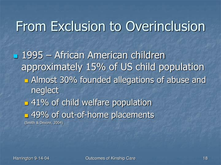 From Exclusion to Overinclusion