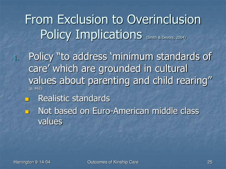 From Exclusion to Overinclusion Policy Implications
