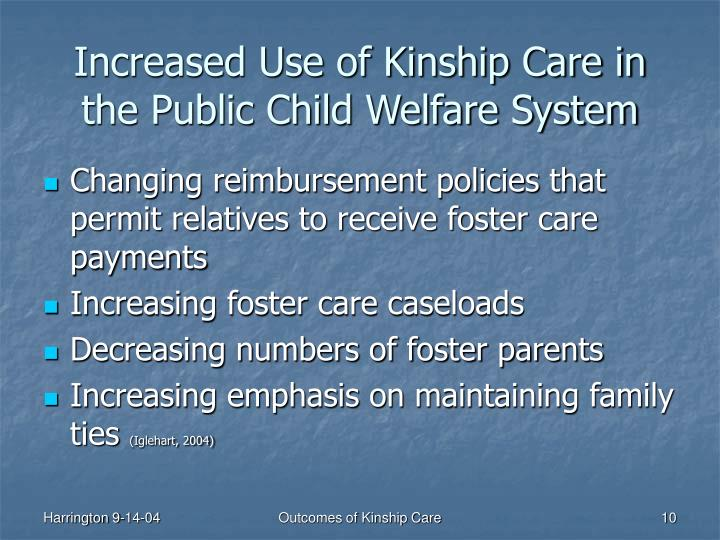 Increased Use of Kinship Care in the Public Child Welfare System